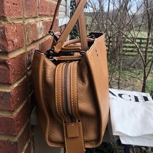 Coach Bags - Coach Rogue 1941 Saddle Brown Double Strap Bag